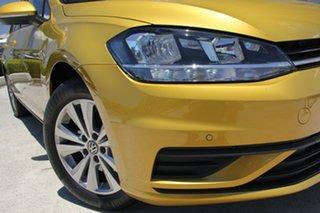 2017 Volkswagen Golf 7.5 MY18 110TSI DSG Trendline Tumeric Yellow 7 Speed.