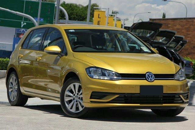 New Volkswagen Golf 7.5 MY18 110TSI DSG Trendline, 2017 Volkswagen Golf 7.5 MY18 110TSI DSG Trendline Tumeric Yellow 7 Speed