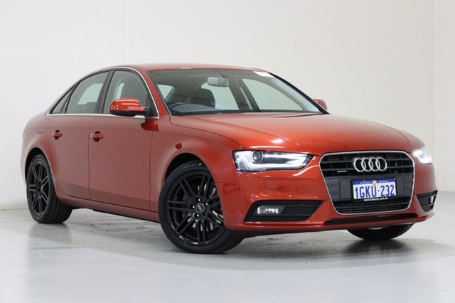 Used Audi A4 B8 (8K) MY14 2.0 TFSI Quattro, 2014 Audi A4 B8 (8K) MY14 2.0 TFSI Quattro Red 7 Speed Auto Direct Shift Sedan