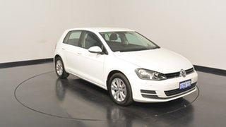 2014 Volkswagen Golf VII MY14 90TSI DSG Comfortline Pure White 7 Speed Sports Automatic Dual Clutch.