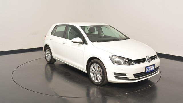 Used Volkswagen Golf VII MY14 90TSI DSG Comfortline, 2014 Volkswagen Golf VII MY14 90TSI DSG Comfortline Pure White 7 Speed Sports Automatic Dual Clutch