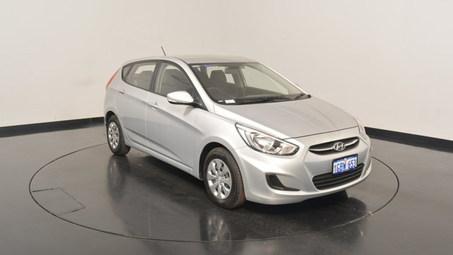 Used Hyundai Accent RB4 MY17 Active, 2016 Hyundai Accent RB4 MY17 Active Sleek Silver 6 Speed Constant Variable Hatchback