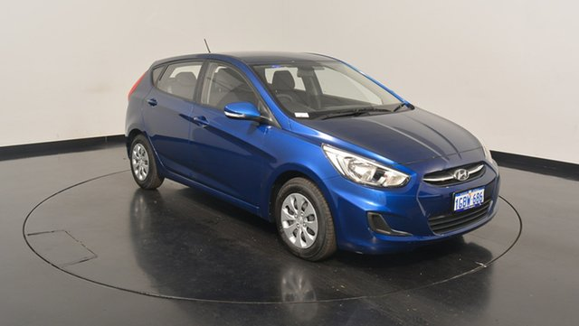 Used Hyundai Accent RB4 MY17 Active, 2016 Hyundai Accent RB4 MY17 Active Dazzling Blue 6 Speed Constant Variable Hatchback