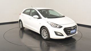 2015 Hyundai i30 GD4 Series II MY16 Active Polar White 6 Speed Sports Automatic Hatchback.