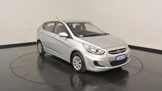 2015 Hyundai Accent RB2 MY15 Active Sleek Silver 4 Speed Sports Automatic Hatchback.