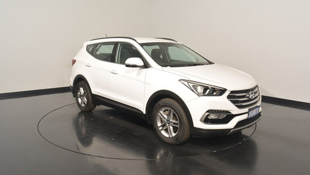 Used Hyundai Santa Fe DM3 MY17 Active, 2017 Hyundai Santa Fe DM3 MY17 Active Pure White 6 Speed Sports Automatic Wagon