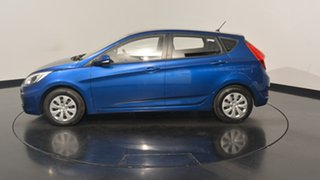 2016 Hyundai Accent RB4 MY17 Active Dazzling Blue 6 Speed Constant Variable Hatchback.