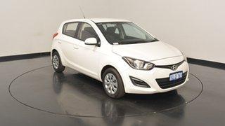 2015 Hyundai i20 PB MY15 Active White 4 Speed Automatic Hatchback.