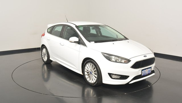 Used Ford Focus LZ Sport, 2016 Ford Focus LZ Sport White 6 Speed Automatic Hatchback