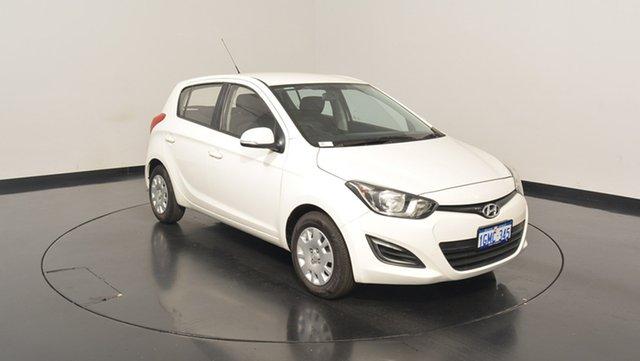 Used Hyundai i20 PB MY15 Active, 2015 Hyundai i20 PB MY15 Active Polar White 4 Speed Automatic Hatchback