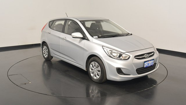 Used Hyundai Accent RB3 MY16 Active, 2016 Hyundai Accent RB3 MY16 Active Sleek Silver 6 Speed Constant Variable Hatchback