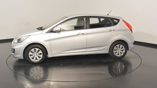 2016 Hyundai Accent RB3 MY16 Active Sleek Silver 6 Speed Constant Variable Hatchback.