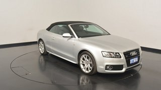 2012 Audi A5 8T MY12 S tronic quattro Silver 7 Speed Sports Automatic Dual Clutch Cabriolet.