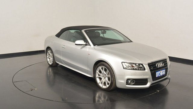 Used Audi A5 8T MY12 S tronic quattro, 2012 Audi A5 8T MY12 S tronic quattro Silver 7 Speed Sports Automatic Dual Clutch Cabriolet