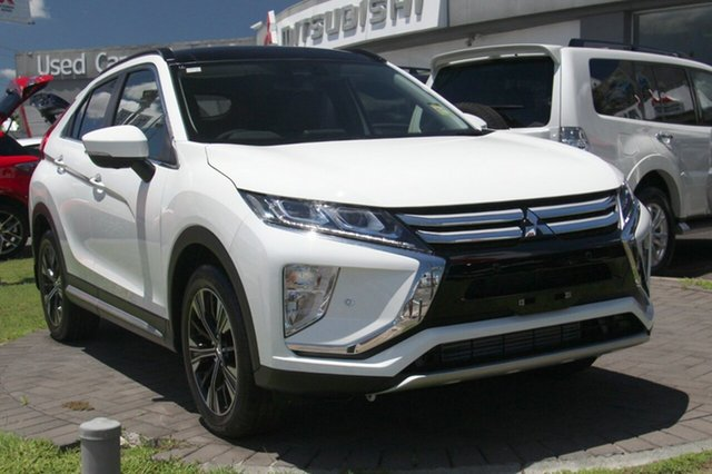 New Mitsubishi Eclipse Cross YA MY18 Exceed 2WD, 2017 Mitsubishi Eclipse Cross YA MY18 Exceed 2WD White 8 Speed Constant Variable Wagon