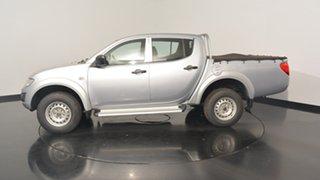 2013 Mitsubishi Triton MN MY14 GLX Double Cab Silver 4 Speed Sports Automatic Utility.