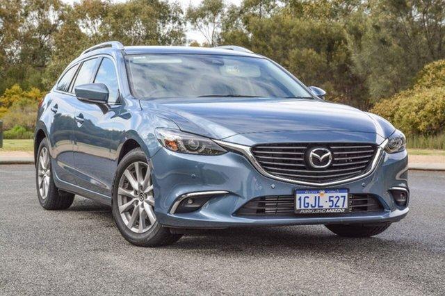 Demo Mazda 6 GL1021 Touring SKYACTIV-Drive, 2017 Mazda 6 GL1021 Touring SKYACTIV-Drive Blue 6 Speed Sports Automatic Wagon