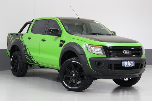 Used Ford Ranger PX XL 2.2 (4x4), 2012 Ford Ranger PX XL 2.2 (4x4) Green 6 Speed Manual Crew Cab Utility