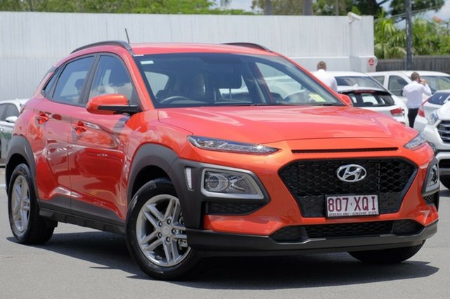 New Hyundai Kona OS MY18 Active D-CT AWD, 2017 Hyundai Kona OS MY18 Active D-CT AWD Tangerine Comet 7 Speed Sports Automatic Dual Clutch Wagon