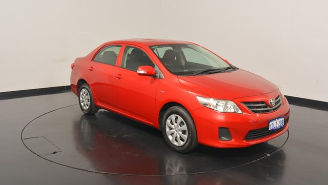 Used Toyota Corolla ZRE152R Ascent, 2010 Toyota Corolla ZRE152R Ascent Red 4 Speed Automatic Sedan