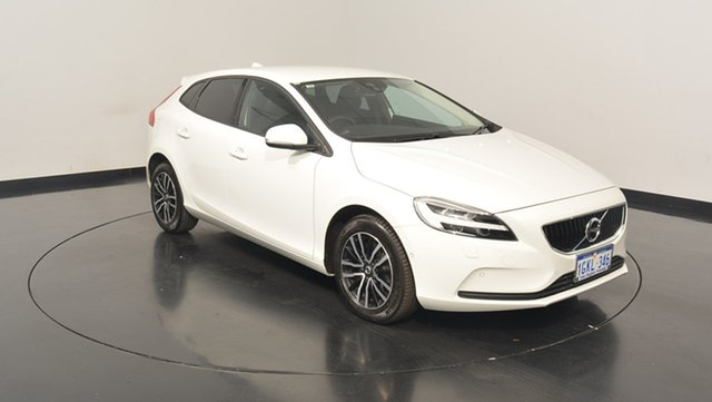 Used Volvo V40 M Series MY18 T3 Adap Geartronic Momentum, 2017 Volvo V40 M Series MY18 T3 Adap Geartronic Momentum White 6 Speed Sports Automatic Hatchback