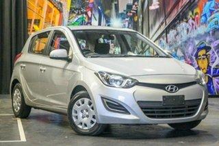 2012 Hyundai i20 PB MY13 Active Silver 4 Speed Automatic Hatchback.
