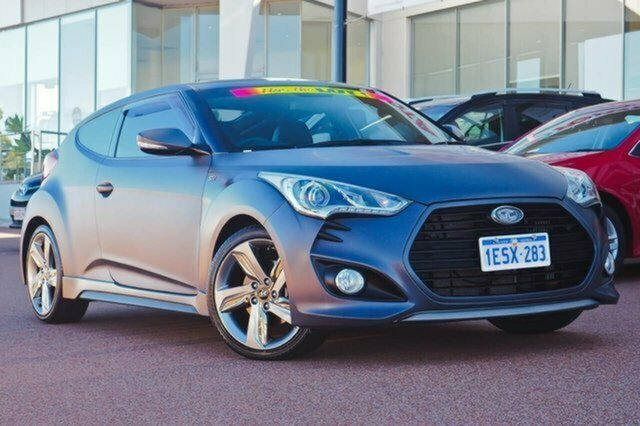 Used Hyundai Veloster FS2 SR Coupe Turbo Albion, 2013 Hyundai Veloster FS2 SR Coupe Turbo Grey 6 Speed Sports Automatic Hatchback
