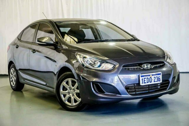 Used Hyundai Accent RB Active Albion, 2013 Hyundai Accent RB Active Carbon Grey 5 Speed Manual Sedan