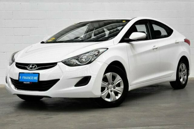 Used Hyundai Elantra MD3 Active Albion, 2013 Hyundai Elantra MD3 Active White 6 Speed Sports Automatic Sedan
