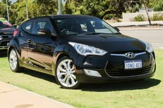 2012 Hyundai Veloster FS Coupe D-CT Black 6 Speed Sports Automatic Dual Clutch Hatchback.