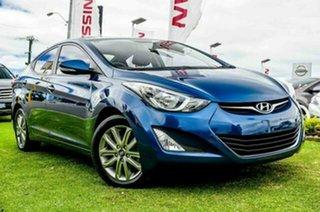 2014 Hyundai Elantra MD3 Trophy Dazzling Blue 6 Speed Sports Automatic Sedan.