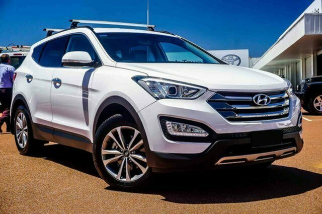 Used Hyundai Santa Fe DM2 MY15 Elite Albion, 2014 Hyundai Santa Fe DM2 MY15 Elite White 6 Speed Sports Automatic Wagon
