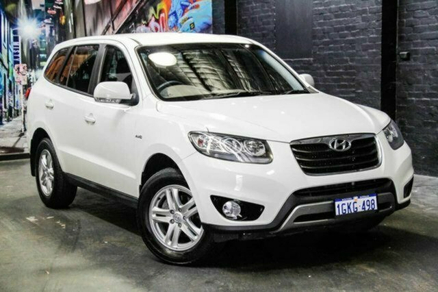 Used Hyundai Santa Fe CM MY10 SLX Albion, 2011 Hyundai Santa Fe CM MY10 SLX White 6 Speed Sports Automatic Wagon