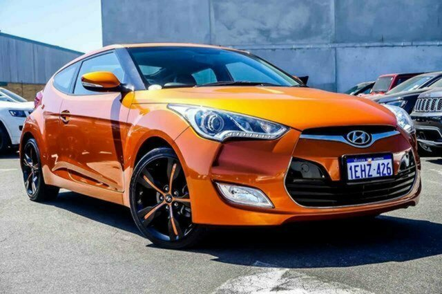 Used Hyundai Veloster FS2 + Coupe D-CT Albion, 2013 Hyundai Veloster FS2 + Coupe D-CT Orange 6 Speed Sports Automatic Dual Clutch Hatchback