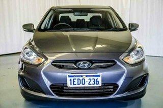 2013 Hyundai Accent RB Active Carbon Grey 5 Speed Manual Sedan