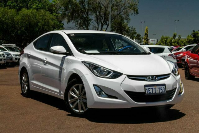 Used Hyundai Elantra MD3 Trophy Albion, 2014 Hyundai Elantra MD3 Trophy White 6 Speed Sports Automatic Sedan