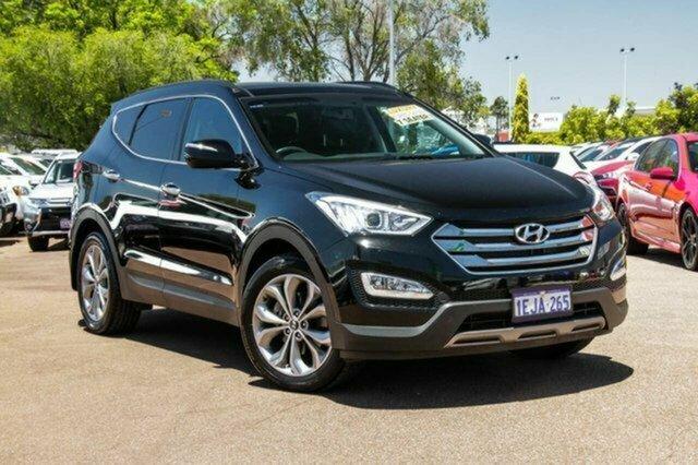 Used Hyundai Santa Fe DM MY13 Highlander Albion, 2013 Hyundai Santa Fe DM MY13 Highlander Black 6 Speed Sports Automatic Wagon