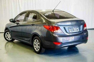 2013 Hyundai Accent RB Active Carbon Grey 5 Speed Manual Sedan.