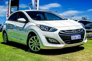 2014 Hyundai i30 GD2 Active Creamy White 6 Speed Sports Automatic Hatchback.