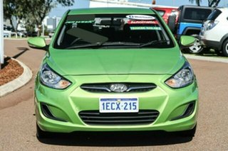 2013 Hyundai Accent RB Active Green 4 Speed Sports Automatic Sedan