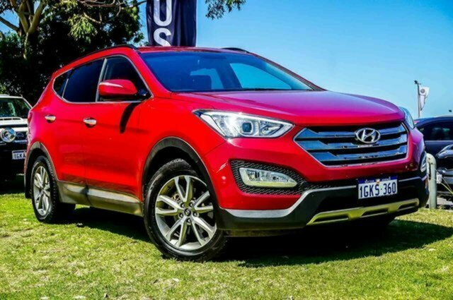 Used Hyundai Santa Fe DM MY13 Elite Albion, 2013 Hyundai Santa Fe DM MY13 Elite Red 6 Speed Sports Automatic Wagon