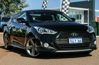2014 Hyundai Veloster FS3 SR Coupe Turbo Black 6 Speed Sports Automatic Hatchback.
