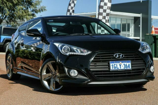 Used Hyundai Veloster FS3 SR Coupe Turbo Albion, 2014 Hyundai Veloster FS3 SR Coupe Turbo Black 6 Speed Sports Automatic Hatchback