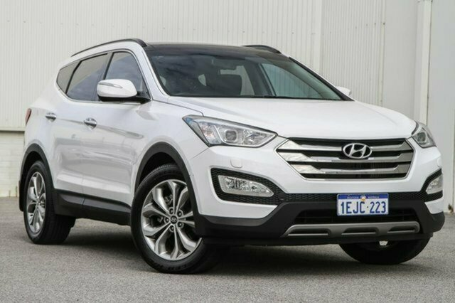 Used Hyundai Santa Fe DM MY13 Highlander Albion, 2013 Hyundai Santa Fe DM MY13 Highlander White 6 Speed Sports Automatic Wagon
