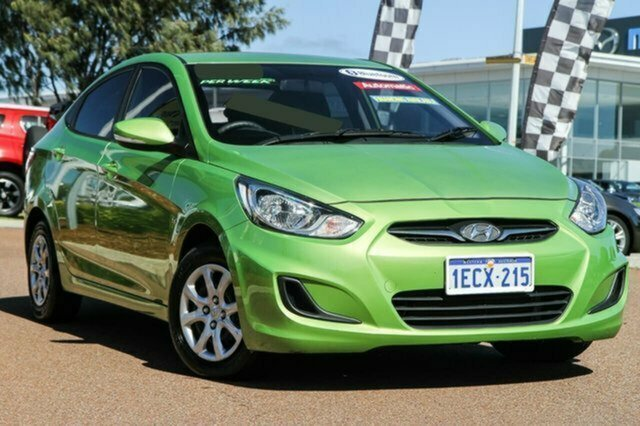 Used Hyundai Accent RB Active Albion, 2013 Hyundai Accent RB Active Green 4 Speed Sports Automatic Sedan