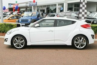 2015 Hyundai Veloster FS4 Series II SR Coupe Turbo + White 6 Speed Manual Hatchback.