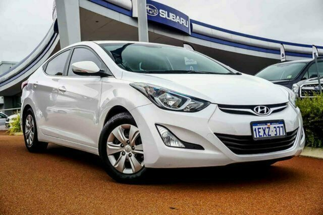 Used Hyundai Elantra MD3 Active Albion, 2015 Hyundai Elantra MD3 Active White 6 Speed Sports Automatic Sedan