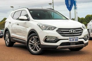 2017 Hyundai Santa Fe DM3 MY17 Highlander White 6 Speed Sports Automatic Wagon.