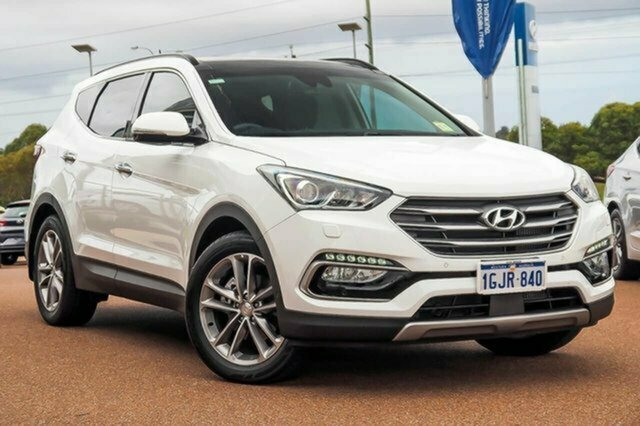 Used Hyundai Santa Fe DM3 MY17 Highlander Albion, 2017 Hyundai Santa Fe DM3 MY17 Highlander White 6 Speed Sports Automatic Wagon