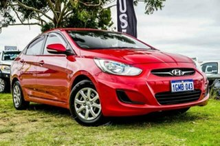 2012 Hyundai Accent RB Active Red 4 Speed Sports Automatic Sedan.